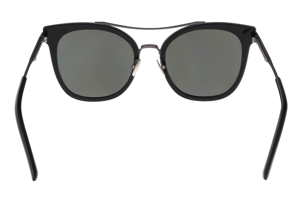 Bottega Venetta BV0064/S 001 Black Round Sunglasses