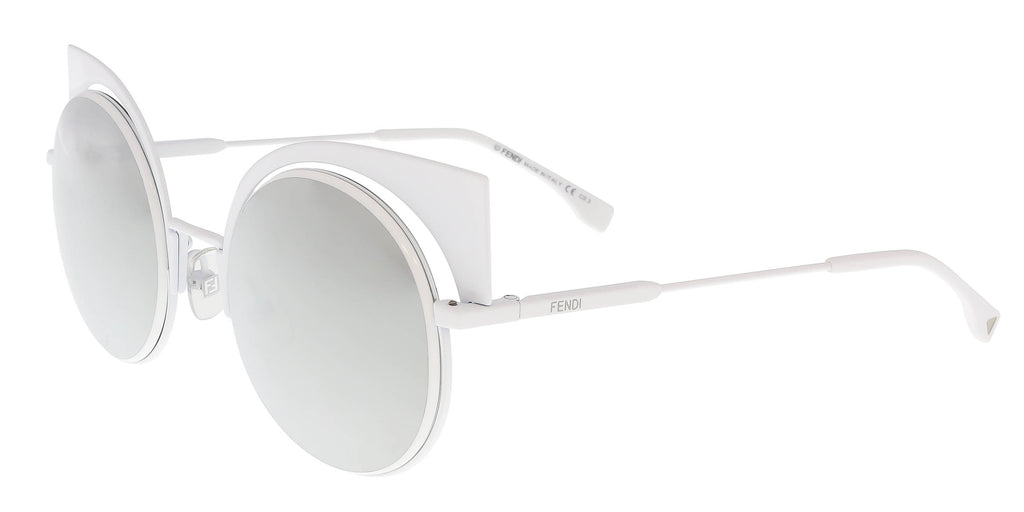 acc481c61dc Fendi FF 0177 S 0DMV Eyeshine White Cat Eye Sunglasses – BellaOchio