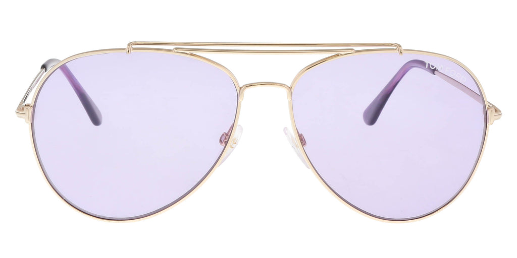 a4cd98527479 Tom Ford FT0497 S 28Y INDIANA Gold Aviator Sunglasses – BellaOchio