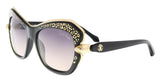 Roberto Cavalli  Black Square Sunglasses