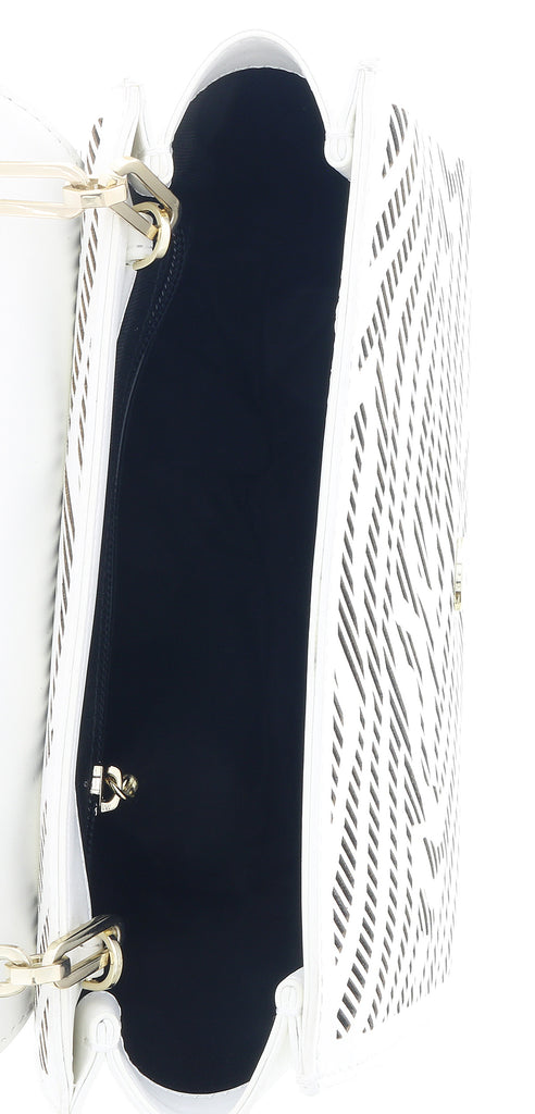 Class Roberto Cavalli  White/Black Small Shoulder Bag Audrey 001
