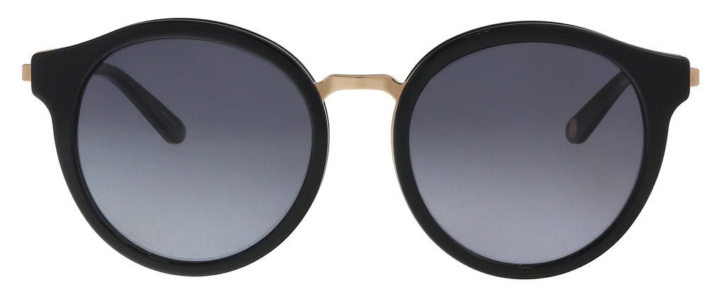 f941175187b30e Juicy Couture JU596 S 02M2  9O Black Gold Round Sunglasses – BellaOchio