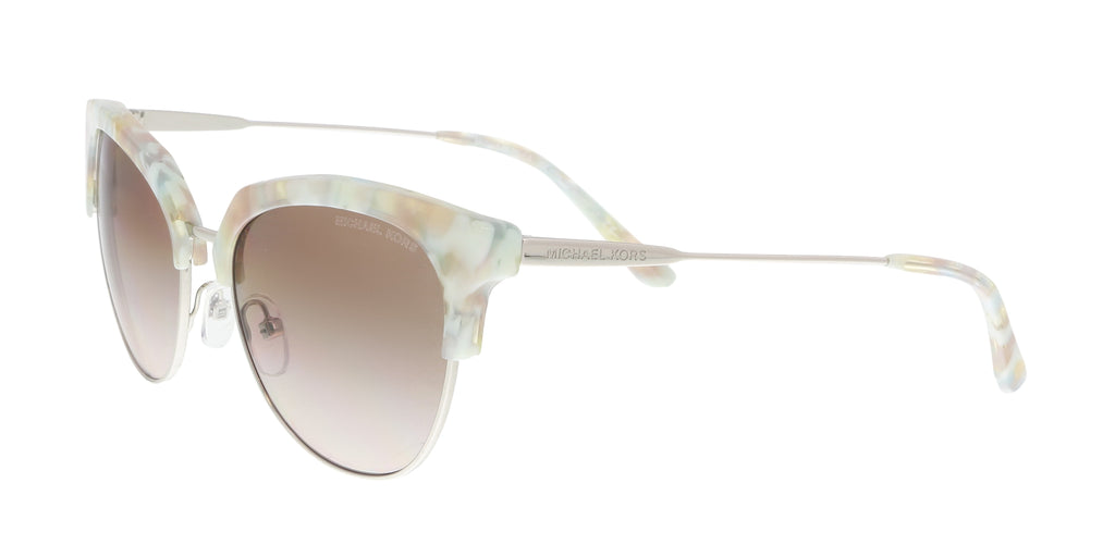 92cc641cad ... Michael Kors Pastel Green Mosaic  Silver Cat eye Sunglasses ...