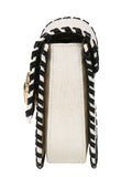 Roberto Cavalli Class GWLPCK B20 Milano Rmx 0 White/Black Medium Shoulder Bag
