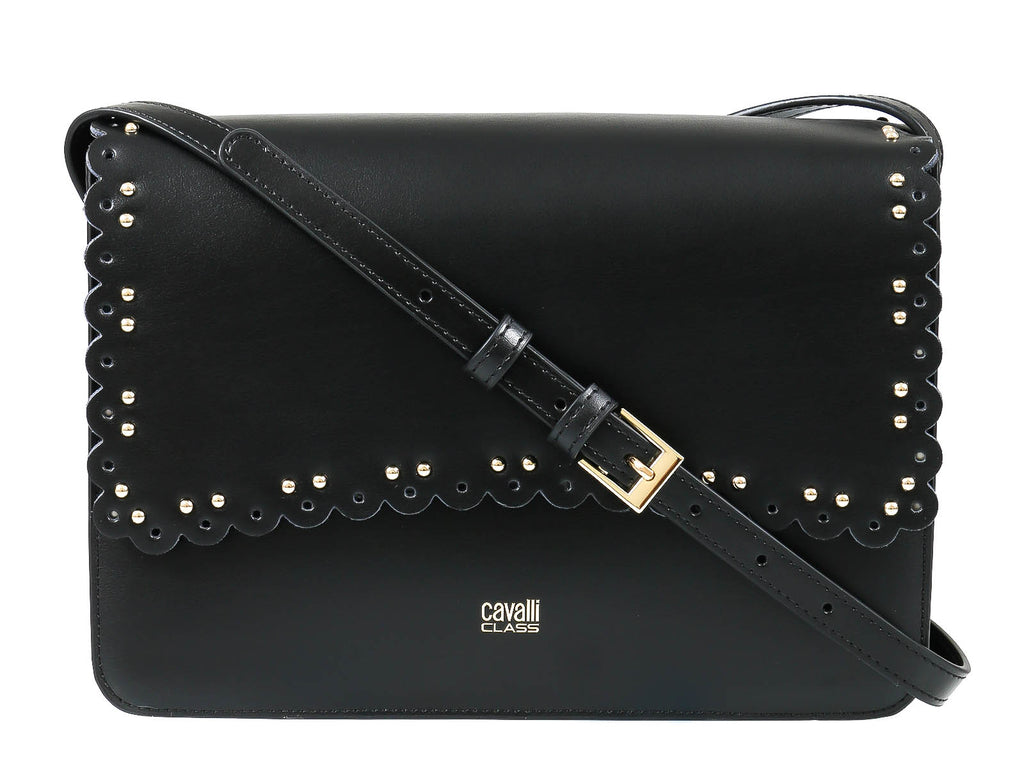 Roberto Cavalli Class GWLPEZ 999 Leolace 003 Black Shoulder Bag