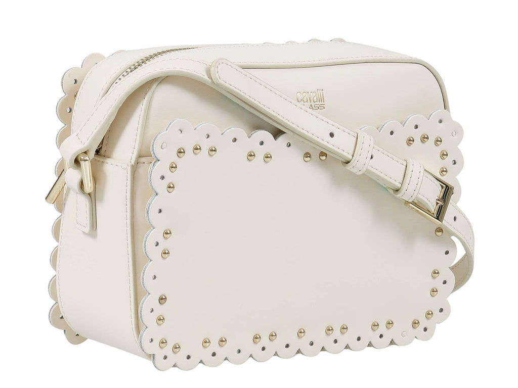 e7aa3a83d10a Roberto Cavalli Class GWLPEY 010 Leolace 002 White Small Shoulder Bag