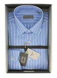 Canali Blue Stripe Formal Shirts