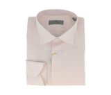 Canali Pink Check Formal Shirts