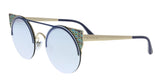 Bulgari  Blue/ Pale Gold Cat eye Sunglasses