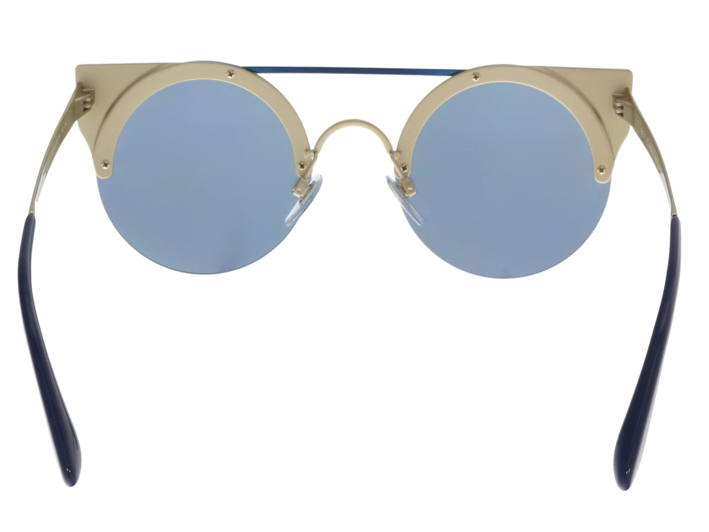 Bulgari BV6088 20206J Blue/ Pale Gold Cat eye Sunglasses