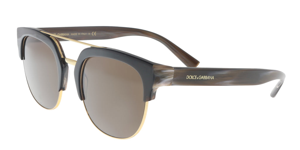 Dolce & Gabbana  Black Gradient Square Sunglasses