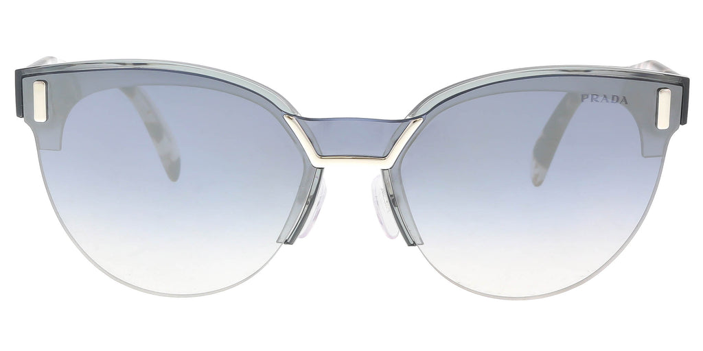 60261aa25eed Prada PR 04US VIP5R0 Transparent Grey Cat eye Sunglasses – BellaOchio