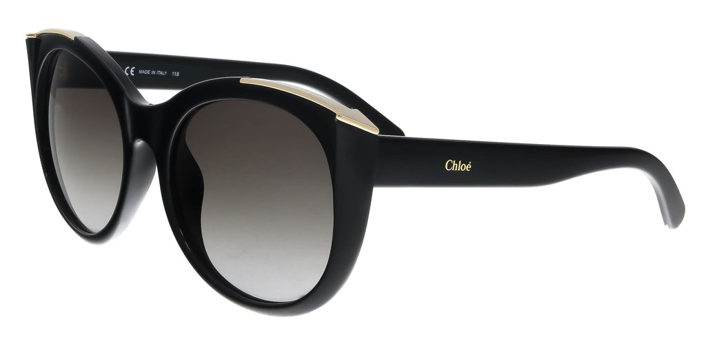 Chloe  Black Round Sunglasses