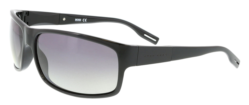 BOSS  Shiny Black Rectangle Sunglasses