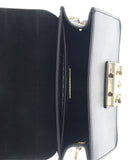 FURLA METROPOLIS BGZ7 Black  Crossbody Bag w/chain
