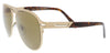 Bulgari  Gold Aviator Sunglasses