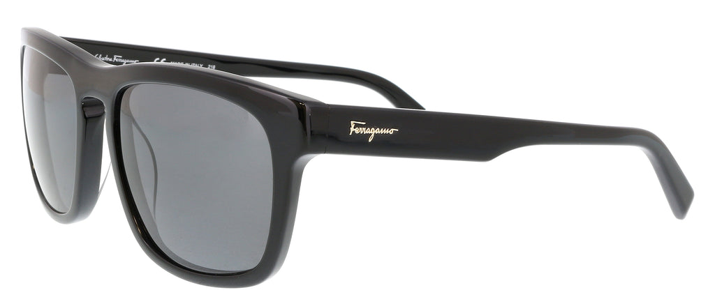 cc3ec5d134 Salvatore Ferragamo SF789 SP 001 Black Rectangle Sunglasses – BellaOchio