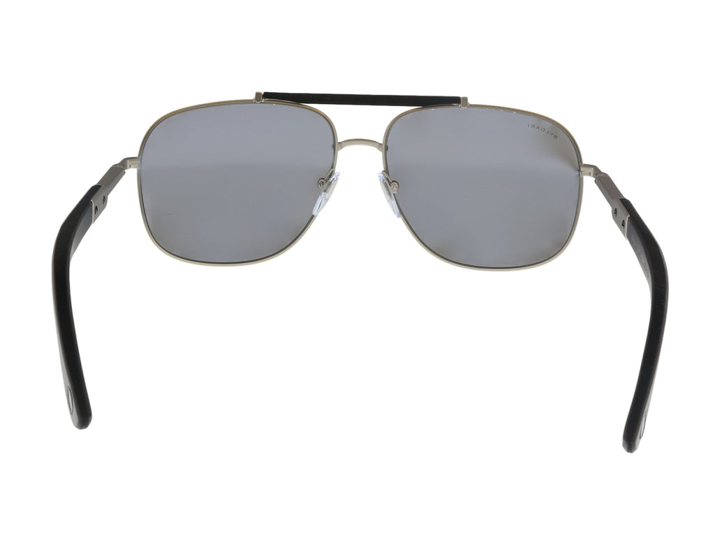 Bulgari BV5040K 200781 Matte Silver Rectangular Sunglasses