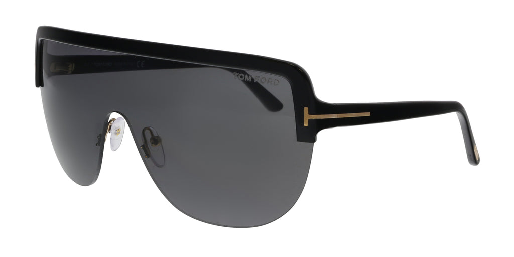 0c16a09e34 Tom Ford FT0560 01A Angus-02 Black Oversized Sunglasses – BellaOchio