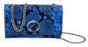 Roberto Cavalli HXLPDL 080 Blue Shoulder Bag