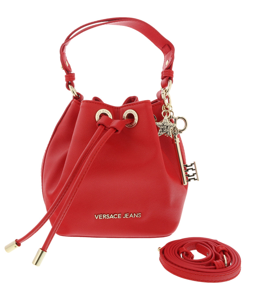 Versace Red Small Bucket Bag-EE1VTBBN5 E500