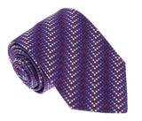 Missoni U5304 Purple/Silver Chevron 100% Silk Tie