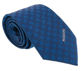 Missoni Abstract Blue Woven 100% Silk Tie