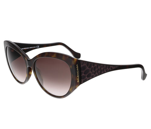 Balenciaga BA0001S 66F Red/Dark Havana Cat Eye sunglasses