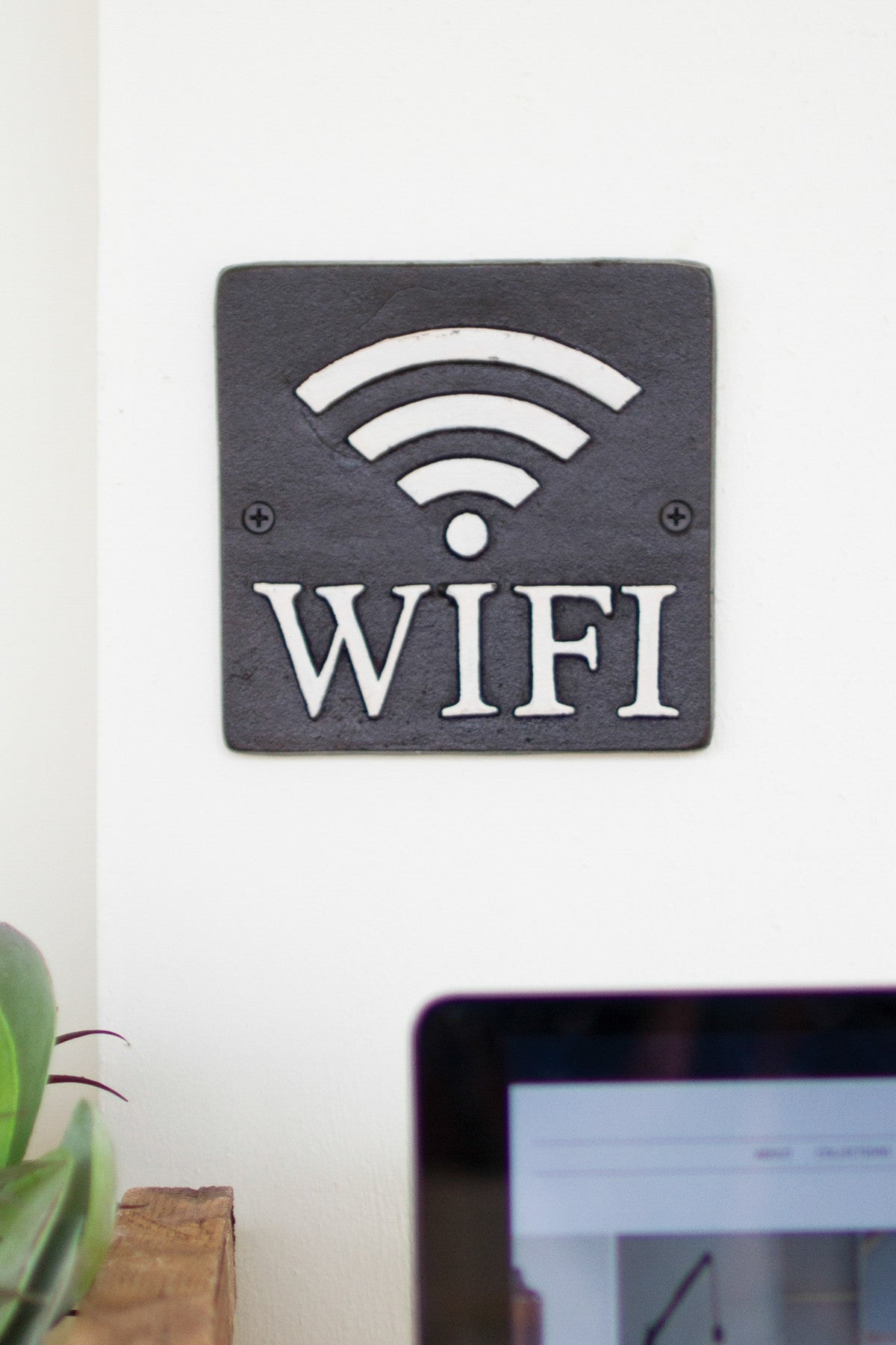 CAST IRON WI-FI SIGN