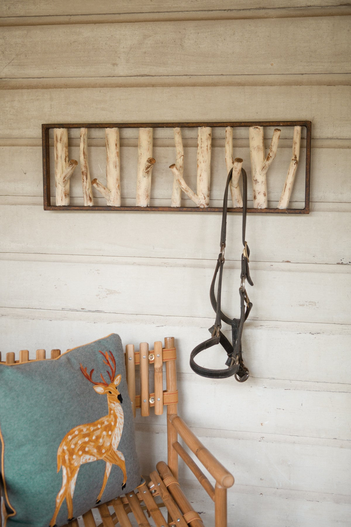 METAL FAUX BIRCH TREE COAT RACK