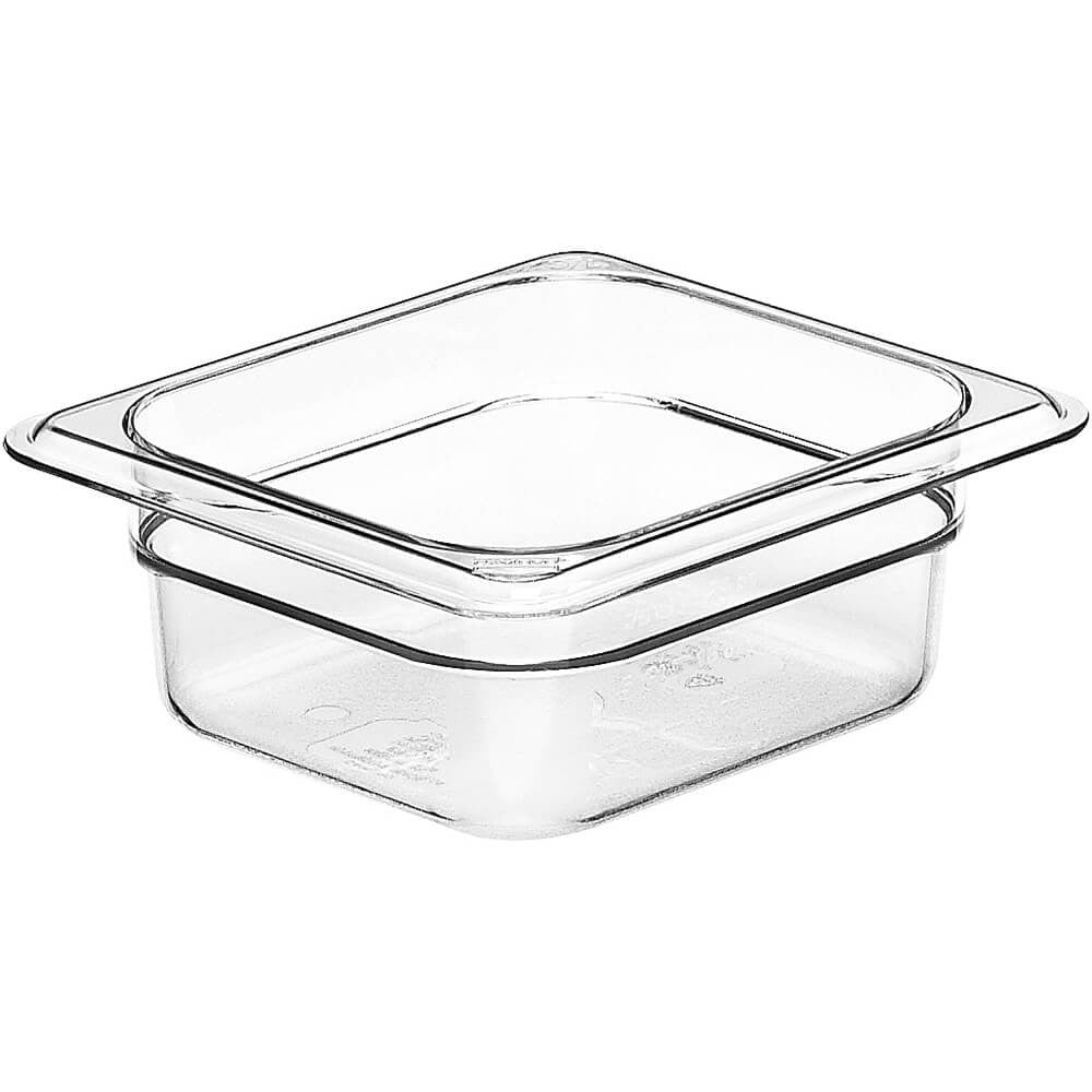Food Pan, Sixth-Size Clear, Flat