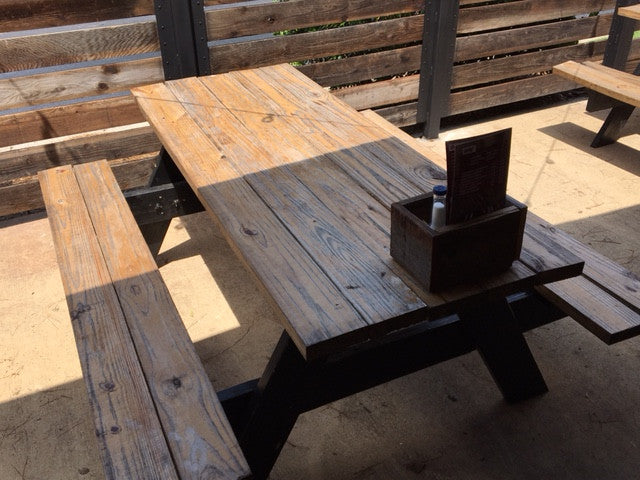 Wooden Patio Picnic Tables - Brown (2 Sizes Available)