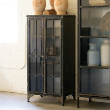Iron and Glass Storage Display Case