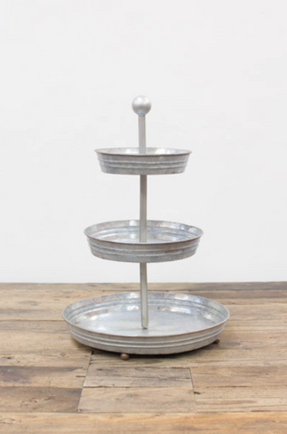 3 TIERED ROUND TABLE TOP DISPLAY