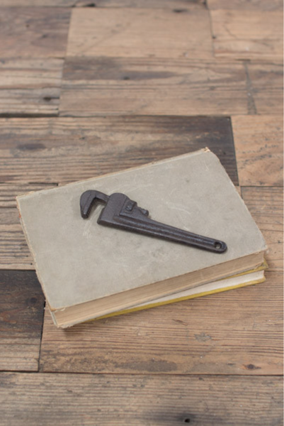 CAST IRON PIPE WRENCH BOTTLE OPENER - RUSTIC