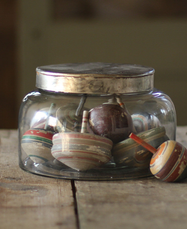 JAR WITH METAL LID - SMALL