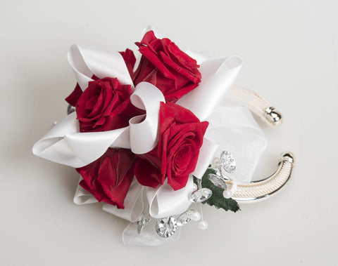 Rose Corsage - Red