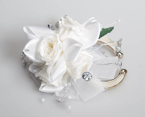 Rose Corsage - White