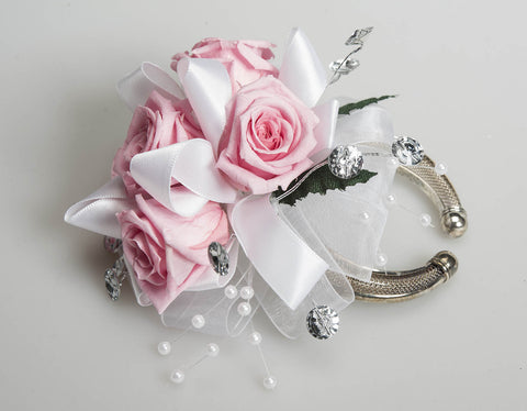 Rose Corsage - Light Pink