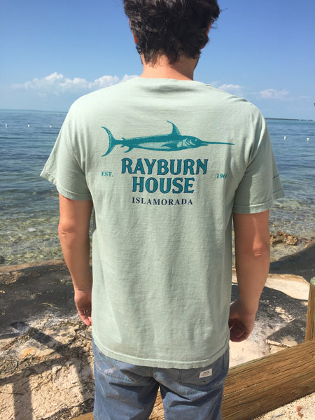 Rayburn House Men's T Shirt - Light Olive Green