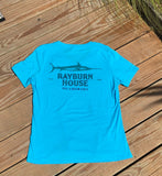 Rayburn House Ladies V Neck Tee - Turquoise