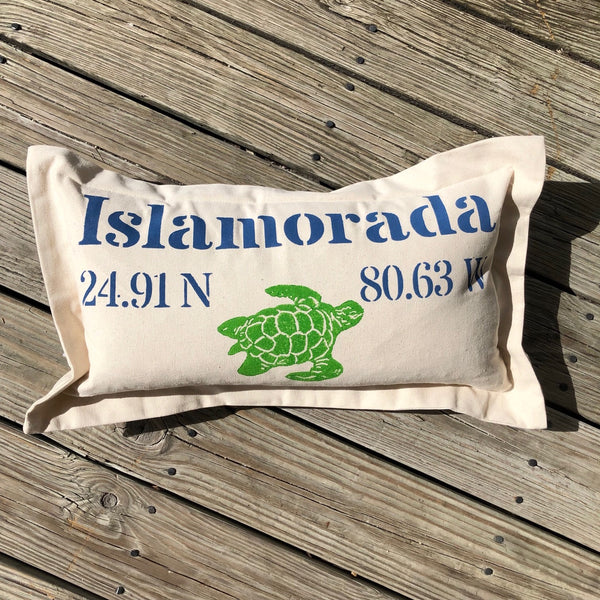 Islamorada Lat Lo Pillow - Lumbar with Turtle