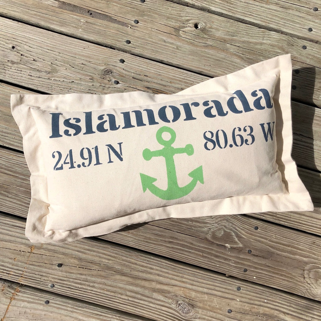 Islamorada Lat Lo Pillow - Lumbar with Anchor