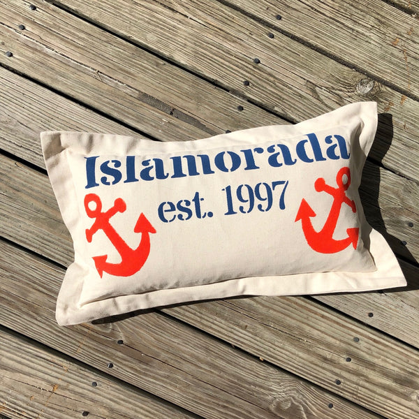 Islamorada Pillow - Lumbar with Anchors