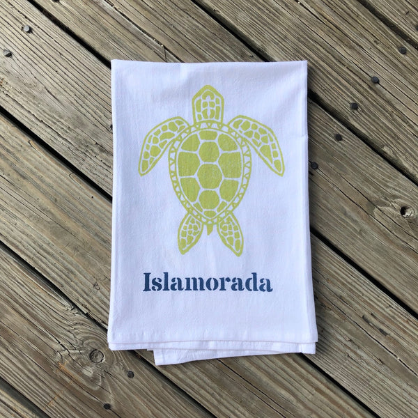 Islamorada Tea Towel - Sea Turtle