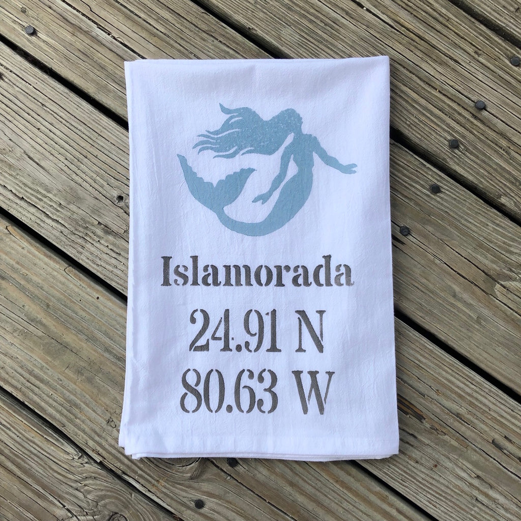 Islamorada Tea Towel - Mermaid Lat Lo
