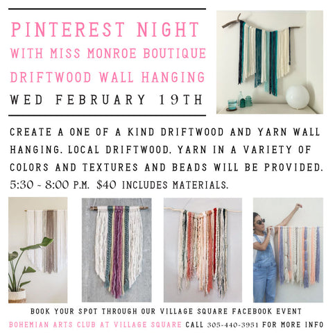 Pinterest Night With Miss Monroe - February 19th 2020