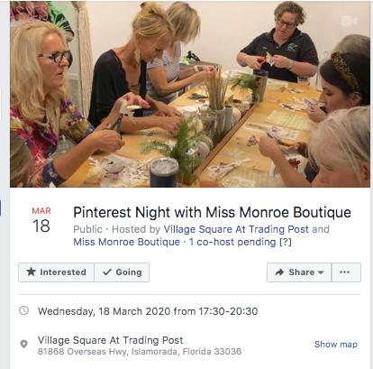 Pinterest Night With Miss Monroe - March 18th 2020