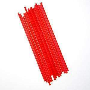 Janitorial SuperstoreUnwrapped Semi Slim Straw / Stirrer 7.75 Red 10/500