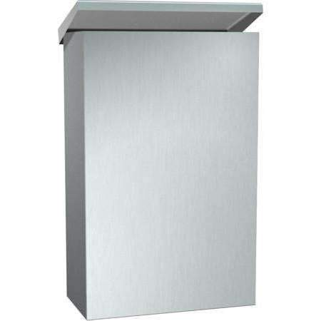 Janitorial SuperstoreStainless Steel, Brushed Finish Surface Mounted Sanitary Napkin Disposal